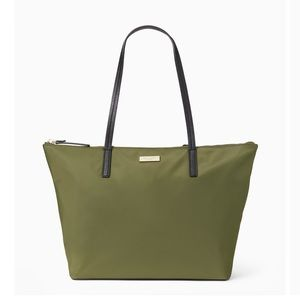 Kate Spade May Street Lida Nylon Tote; Olive